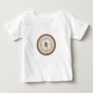 Nautical Compass On Vintage Retro Blue Cream Brown T Shirts