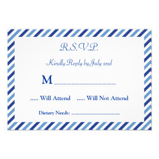 Nautical Compass RSVP Card Invitation