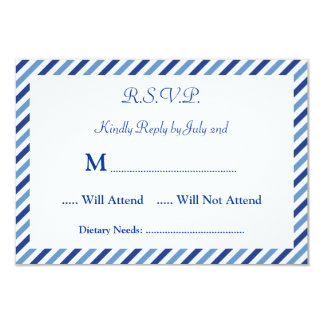 Nautical Compass RSVP Card Invitation