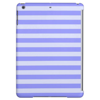 Nautical Conflower Blue and Pastel Blue Stripes iPad Air Cover
