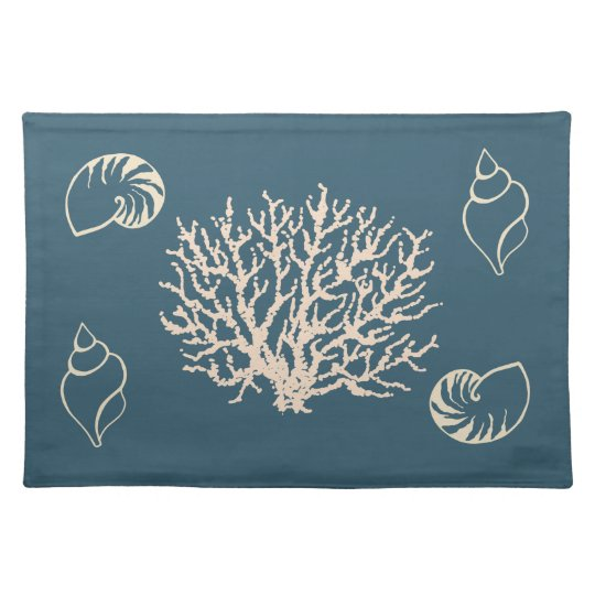 Nautical Coral Seashells Placemat
