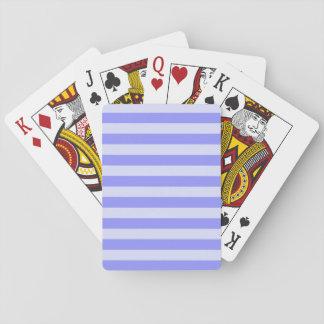 Nautical Cornflower and Pastel Blue Stripes Poker Deck
