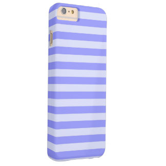 Nautical Cornflower Blue and Pastel Blue Stripes Barely There iPhone 6 Plus Case