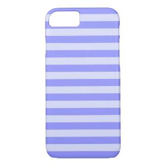 Nautical Cornflower Blue and Pastel Blue Stripes iPhone 7 Case