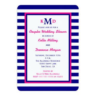 Nautical Couple Coed Wedding Shower Invitation