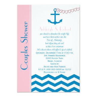 Nautical Couples Coed Wedding Shower Invitation