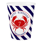 Nautical Crab Birthday Party Cups