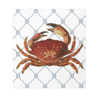 Nautical Crab Notepad
