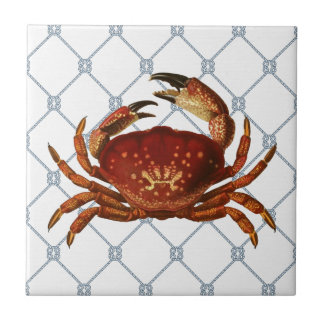 Nautical Crab Tile