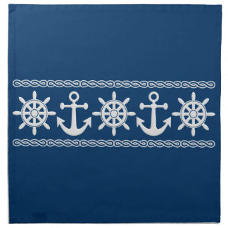 Nautical custom cloth napkins