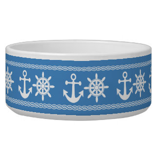 Nautical custom color pet bowls