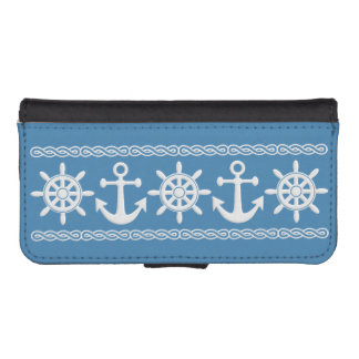 Nautical custom color wallet cases