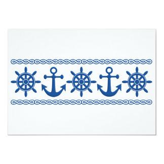 Nautical custom invitation