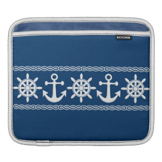 Nautical custom laptop / iPad sleeve