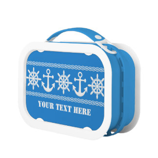 Nautical custom lunch boxes