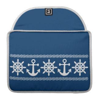 Nautical custom MacBook sleeve
