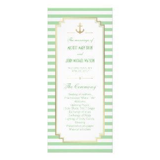 Nautical Custom Mint White Program Rack Cards