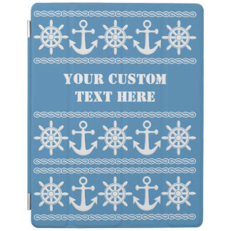 Nautical custom text & color device covers iPad cover