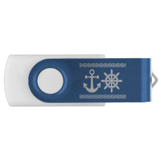 Nautical custom text & color USB flash drives