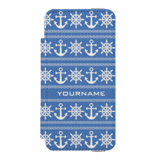 Nautical custom text & color wallet cases incipio watson™ iPhone 5 wallet case
