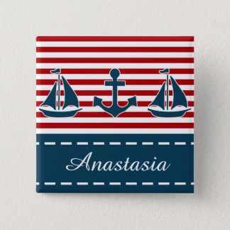 Nautical design 15 cm square badge
