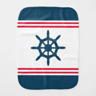 Nautical design baby burp cloth