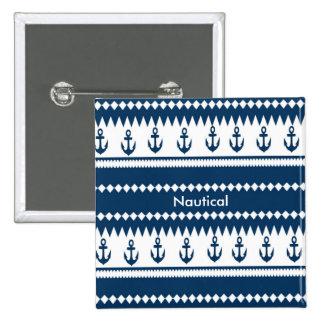 Nautical Design 15 Cm Square Badge