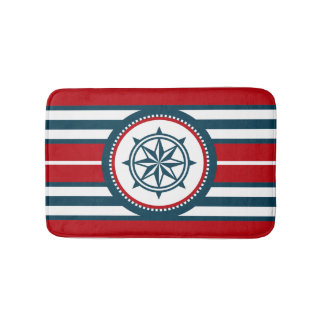 Nautical design bath mat