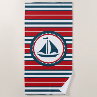 Nautical design beach towel