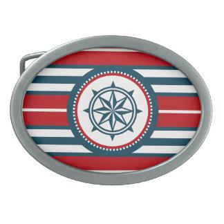 Nautical design belt buckles