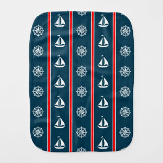 Nautical design burp cloth