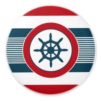 Nautical design ceramic knob