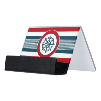 Nautical design desk business card holder