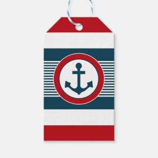 Nautical design gift tags