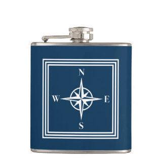 Nautical design hip flask