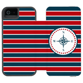 Nautical design incipio watson™ iPhone 5 wallet case