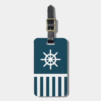 Nautical design luggage tag