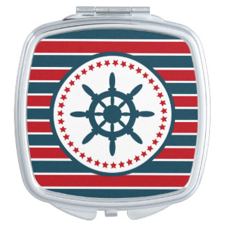 Nautical design makeup mirror