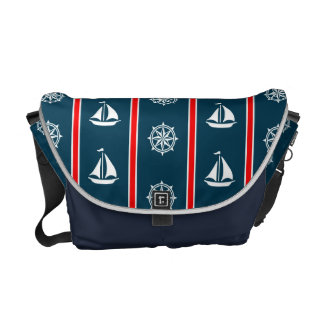 Nautical design messenger bags