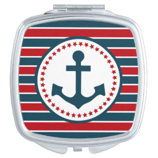 Nautical design mirror for makeup