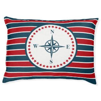 Nautical design pet bed