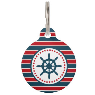 Nautical design pet ID tag
