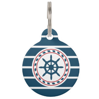 Nautical design pet name tag