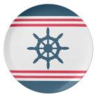 Nautical design plate