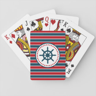 Nautical design playing cards