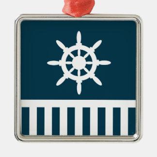 Nautical design Silver-Colored square decoration