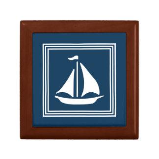 Nautical design small square gift box