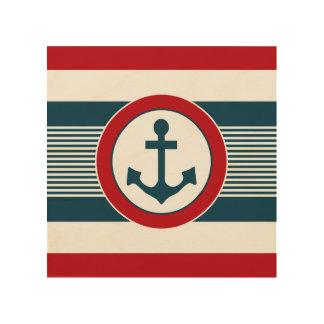 Nautical design wood print
