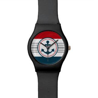 Nautical design wrist watch