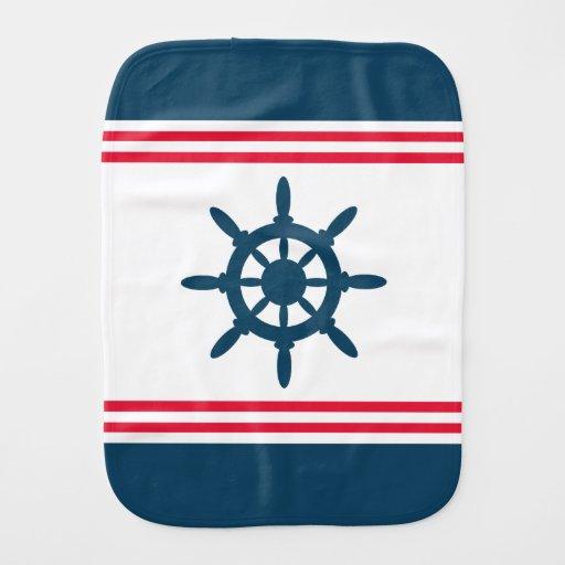 Nautical design baby burp cloths